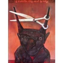 O diabełku, który chciał być dobry Stasys Eidrigevicius polski plakat
