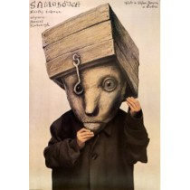 Samobójca Teatr Jaracza Łódź Stasys Eidrigevicius polski plakat