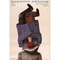 Przedstawienie pożegnalne Stasys Eidrigevicius polski plakat