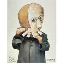 Biennale Exlibrisu Malbork XII Stasys Eidrigevicius polski plakat
