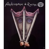 Andromaque de Racine Theatre national populaire Stasys Eidrigevicius polski plakat