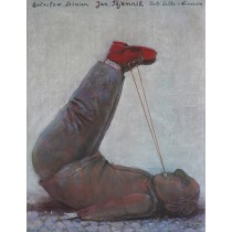 Jan Tajemnik Teatr Lalka Warszawa Stasys Eidrigevicius polski plakat