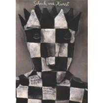 Schach und Kunst Stasys Eidrigevicius polski plakat