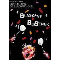 Blaszany bębenek Waldemar Świerzy polski plakat