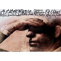 A statek płynie Federico Fellini Wiesław Wałkuski polski plakat