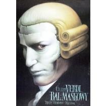 Bal maskowy Wiesław Wałkuski polski plakat