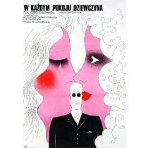 W każdym pokoju dziewczyna Jaroslav Balik Mieczysław Wasilewski polski plakat