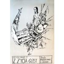 Z życia glist Per Olov Enquist Janusz Wiśniewski polski plakat