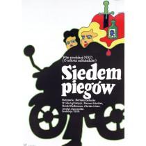 Siedem piegów Herrmann Zschoche Maciej Żbikowski polski plakat