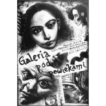 Galeria pod powiekami Leszek Żebrowski polski plakat