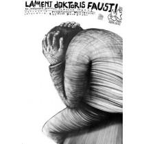Lament Doktoris Fausti Leszek Żebrowski polski plakat