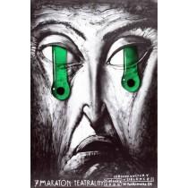 Maraton Teatralny 7. Leszek Żebrowski polski plakat