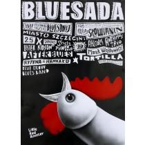Bluesada Blues Festival Leszek Żebrowski polski plakat