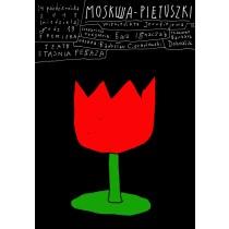 Moskwa Pietuszki Wieniedikt Jerofiejew Leszek Żebrowski polski plakat