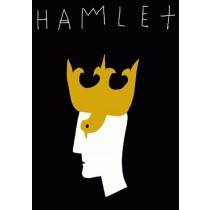 Hamlet William Szekspir Leszek Żebrowski polski plakat