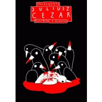 Juliusz Cezar William Szekspir Leszek Żebrowski polski plakat