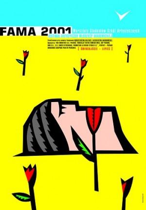 Fama 2001 Mirosław Adamczyk Polski plakat