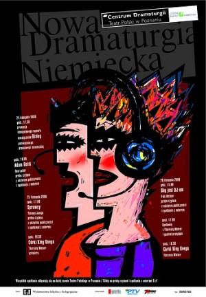 Nowa Dramaturgia Niemiecka Mirosław Adamczyk Polski plakat teatralny