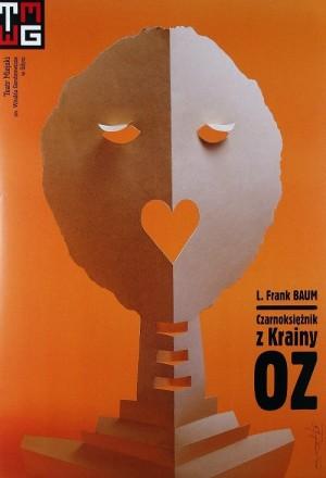 Czarnoksiężnik z Krainy Oz Lyman Frank Baum Tomasz Bogusławski Polski plakat teatralny