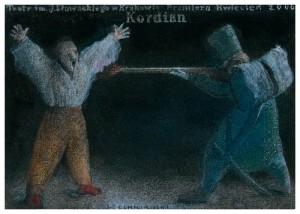 Kordian Juliusz Słowacki  Jerzy Czerniawski Polski plakat teatralny