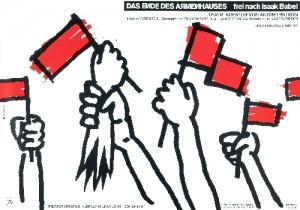 Koniec przytułku Lex Drewinski Polski plakat teatralny