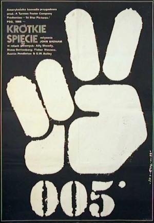 005 Krótkie spięcie John Badham Jakub Erol Polski plakat filmowy