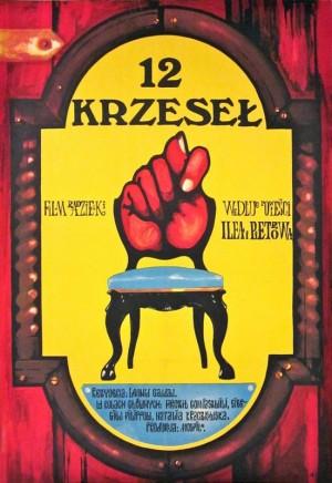 12 krzeseł Jakub Erol Polski plakat filmowy