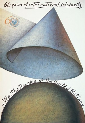 60 years of international solidarity Mieczysław Górowski Polski plakat
