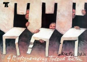 Międzynarodowy tydzień teatru, Białystok 96 Mieczysław Górowski Polski plakat