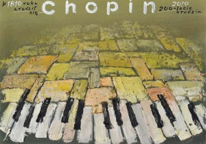 1810 - 2010 Chopin Mieczysław Górowski Polski plakat muzyczny