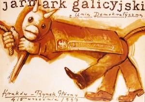 Jarmark Galicyjski z Unią Demokratyczną Mieczysław Górowski Polski plakat
