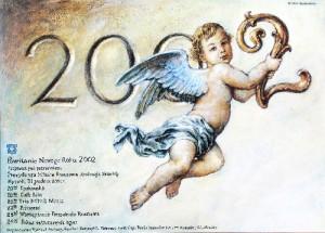 Sylwester 2002 Wiesław Grzegorczyk Polski plakat