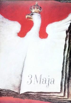 3. Maja, Orzeł Wiesław Grzegorczyk Polski plakat