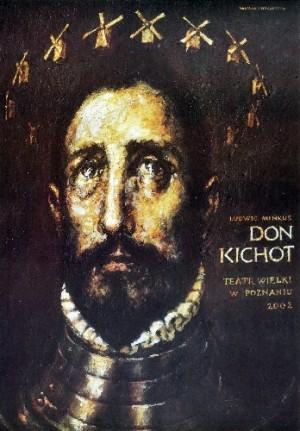 Don Kichot Wiesław Grzegorczyk Polski plakat teatralny