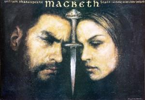 Macbeth Wiesław Grzegorczyk Polski plakat teatralny