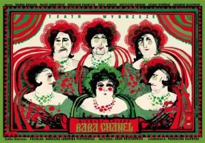 Baba Chanel Ryszard Kaja Polski plakat teatralny