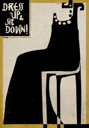 Dress up sitt down Ryszard Kaja Polski plakat