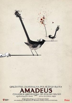 Amadeus Orkiestra Kameralna Polskiego Radia Ryszard Kaja Polski plakat muzyczny