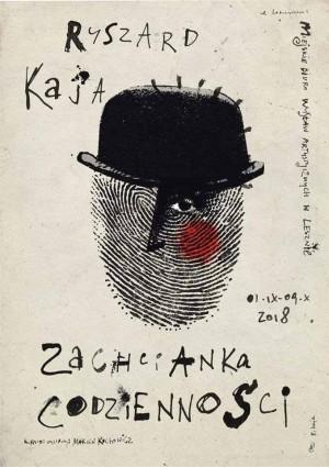 Zachcianka codzienności Ryszard Kaja Polski plakat wystawowy