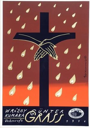 Wróżby Kumaka Günter Grass Roman Kalarus Polski plakat teatralny