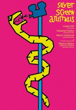 Zwierzęta srebrnego ekranu Łukasz Kliś Polski plakat wystawowy