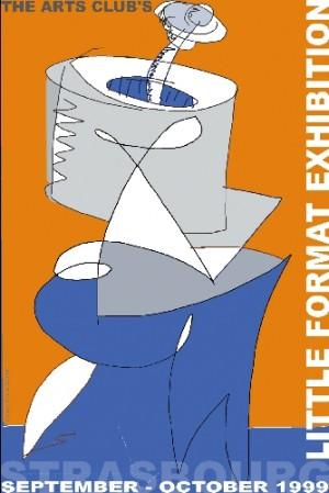 Little Format Exhibition Leonard Konopelski Polski plakat wystawowy