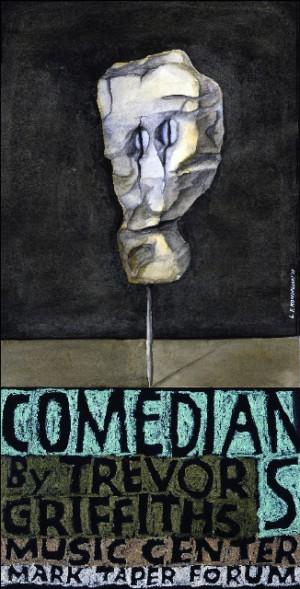 Comedians and Trevor Griffiths Music Cente Leonard Konopelski Polski plakat muzyczny