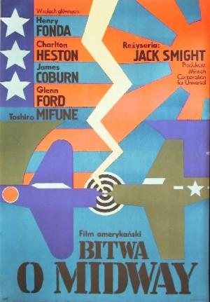 Bitwa o Midway Jack Smight Andrzej Krajewski polski plakat