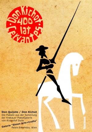 400 lat Don Kichot, Cervantes Michał Książek Polski plakat teatralny