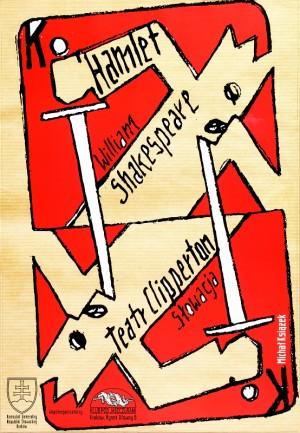 Hamlet William Szekspir Michał Książek polski plakat