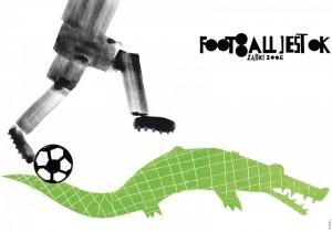 Footbol jest OK! krokodyl Sebastian Kubica Polski plakat