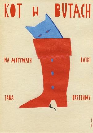 Kot w butach Sebastian Kubica Polski plakat teatralny