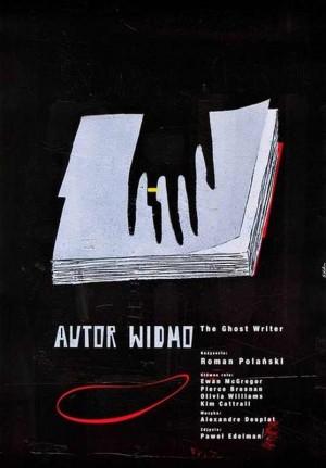 Autor widmo Roman Polański Sebastian Kubica Polski plakat filmowy