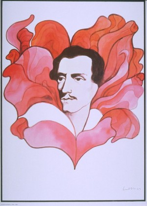 Juliusz Słowacki 1809-1849 Jan Lenica Polski plakat teatralny